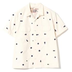 AL'S ATTIRE × BEAMS PLUS / 別注 ドット オープンカラーシャツ メンズ カジュアルシャツ OFF WHT M