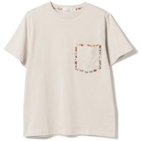 BEAMS LIGHTS / リバティプリント ダブル ポケット Tシャツ メンズ Tシャツ BEIGE XL
