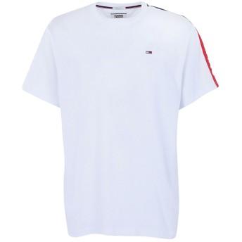《期間限定 セール開催中》TOMMY JEANS メンズ T シャツ ホワイト M コットン 100% SLEEVE GRAPHIC TEE