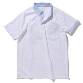 【予約】BEAMS / クレリック ポロシャツ メンズ ポロシャツ WHITE M