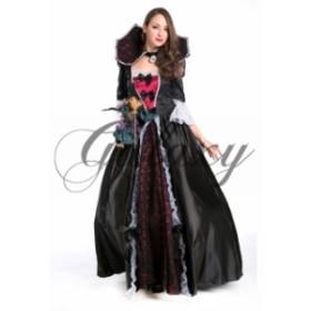 ハロウィン 魔女 魔法使い ドレス ホラー ワンピ コスプレ 仮装 パーティー イベント ダンス ps0209(ps0209)