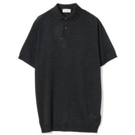 【ショップ限定商品】JOHN SMEDLEY / PIRRO シルク 30ゲージ ニットポロシャツ メンズ ポロシャツ BLACK L