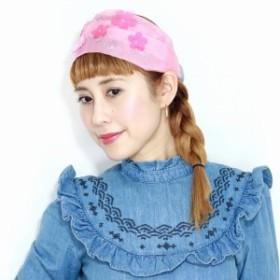 バラ色の帽子 花モチーフ ヘアバンド コットン ビニールフラワーヘアーバンド ヘッドドレス