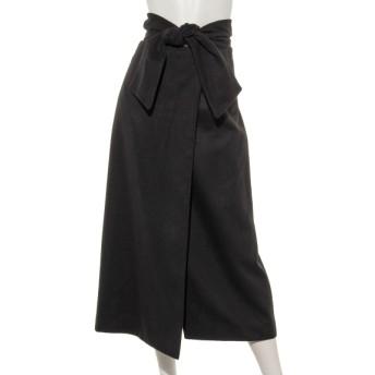 57%OFF Doux archives (ドゥアルシーヴ) ミモレラップスカート BLACK