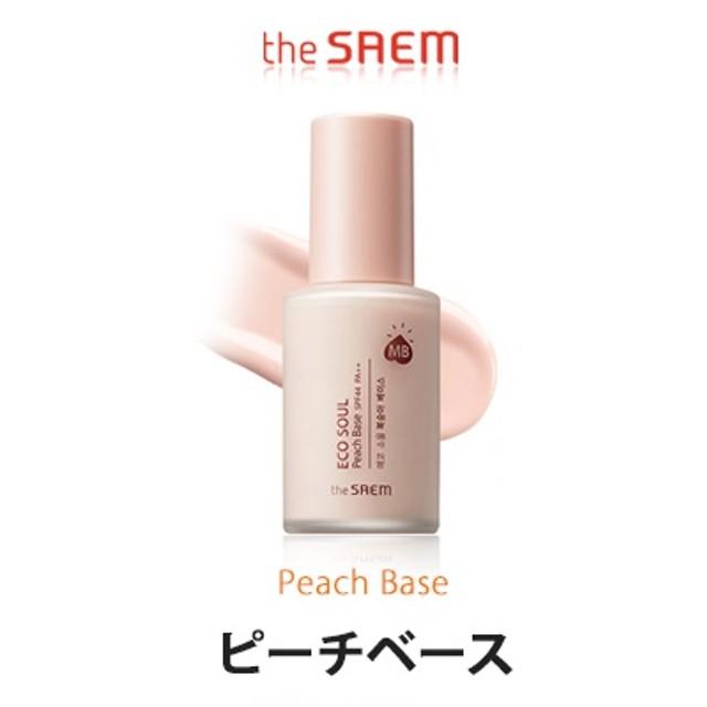 the SAEM ザセム エコ ソウル ピーチベース ももベース 桃ベース 肌のトーンを自然にアップしてくれるフライマーベース 韓国コスメ