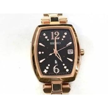 【中古】 セイコー SEIKO 腕時計 ルキア 1B32-0AE0 レディース 黒