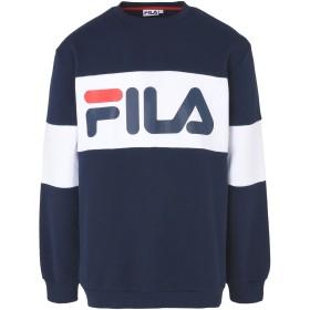 《期間限定 セール開催中》FILA HERITAGE メンズ スウェットシャツ ダークブルー L コットン 80% / ポリエステル 20% STRAIGHT BLOCKED CREW