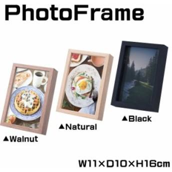 フォトフレーム 写真立て 写真入れ 写真たて ピクチャーフレーム 写真スタンド 木製 スタンド フレーム 幅11cm AKB-264