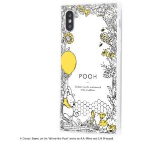 iPhone XS / X /『ディズニーキャラクター』/耐衝撃ガラスケース KAKU IQ-DP20K1C/PO004 『くまのプーさん/ボタニカル』_01