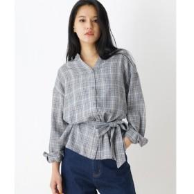 OZOC / オゾック 釦スキッパーチェックシャツ