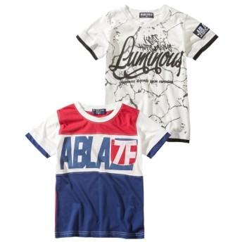 綿混デザイン半袖Tシャツ2枚組(男の子 子供服) Tシャツ・カットソー