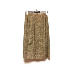 【中古】 ボルボネーゼ BORBONESE スカート サイズ44 L レディース 美品 ベージュ ダークブラウン