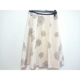 【中古】 アマカ AMACA スカート レディース ベージュ 黒 花柄