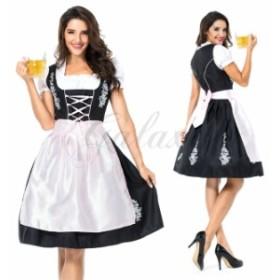 ハロウィン ビールガール ドイツ メイド服 ワンピース 民族衣装 M-XL サイズ コスプレ衣装 ps3523