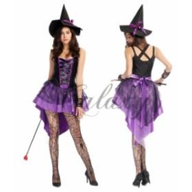 ハロウィン  魔女 魔法使い ウィッチ ワンピース 仮装 コスチューム コスプレ衣装 ps1863