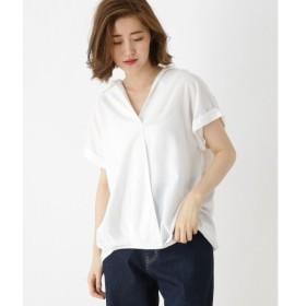 OZOC / オゾック ◆カシュクール風スキッパーシャツ