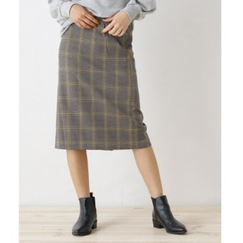 OZOC / オゾック 【洗える】グレンチェックナロースカート