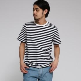 [マルイ]【セール】【WEB限定】 OhCool 細ボーダー Tシャツ/ベース ステーション(メンズ)(BASE STATION Mens)