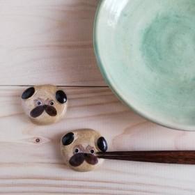 送料無料 パグ犬の箸置きセット(2)