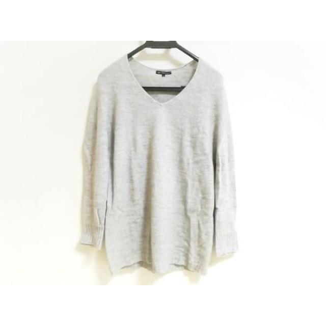 【中古】 ニジュウサンク 23区 長袖セーター サイズ40 M レディース 美品 ベージュ