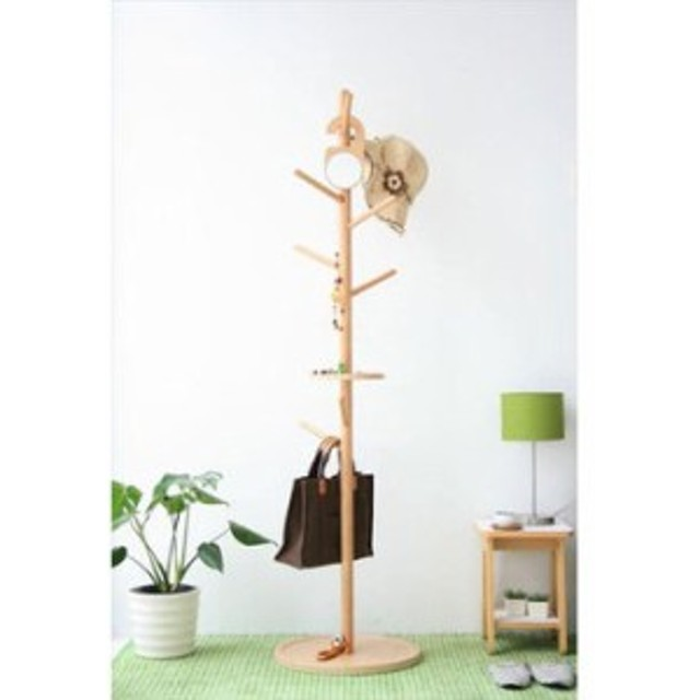【KOEDA/コエダ】 ポールハンガー 北欧 ナチュラル 木製 おしゃれ 洋服掛け 帽子掛け かばん掛け カバン掛け シンプル アンティーク