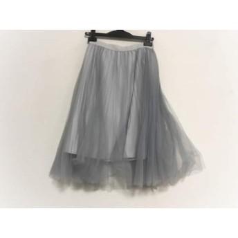 【中古】 フレイアイディー FRAY I.D スカート サイズ1 S レディース 美品 ライトブルー ライトグレー