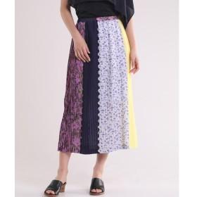 INED / イネド 《Luftrobe》パッチワークプリーツスカート