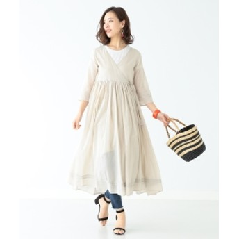 B:MING by BEAMS / ボイルシャツ ガウンワンピース レディース ワンピース LT. BEIGE ONE SIZE