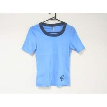 【中古】 オールドイングランド 半袖Tシャツ サイズ36 S レディース 美品 ライトブルー ネイビー