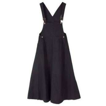 ティティベイト titivate フレアジャンパースカート (ブラック)
