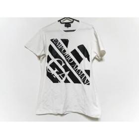 【中古】 エンポリオアルマーニ EMPORIOARMANI 半袖Tシャツ サイズXL メンズ 白 黒