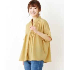 3can4on サンカンシオン タックデザインスキッパーシャツ