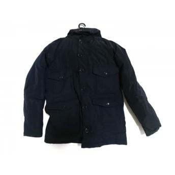 【中古】 アバハウス ABAHOUSE ダウンジャケット サイズ46 XL メンズ ネイビー