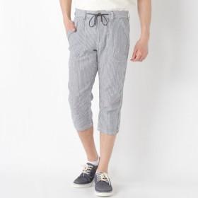 パンツ メンズ ズボン メンズ 綿麻ベーカークロップドパンツ【M〜LL】 「ブルー」