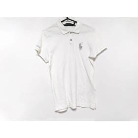 【中古】 ラルフローレンゴルフ 半袖ポロシャツ サイズM レディース アイボリー シルバー 刺繍