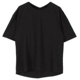 ティティベイト titivate バックツイストTシャツ (ブラック)