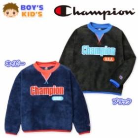 子供服 男の子 トレーナー シャツ 長袖 Champion チャンピオン フリース  男児 キッズ 【メール便不可】