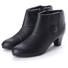 バニティービューティー VANITY BEAUTY 飾りボタンショートブーツ (ブラック)