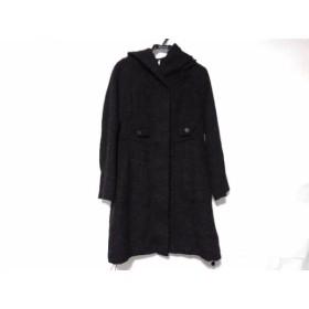 【中古】 センソユニコ SENSO-UNICO コート サイズ38 M レディース 美品 黒 冬物/ジップアップ
