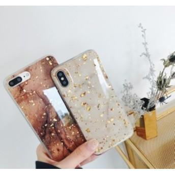 高級 金箔 大理石 スマホケース iphoneケース iphone7plus/8/6 s ソフト 落下防止 女性