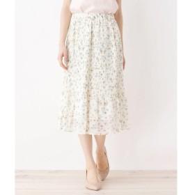 index / インデックス 【洗える】カットドビー花柄スカート