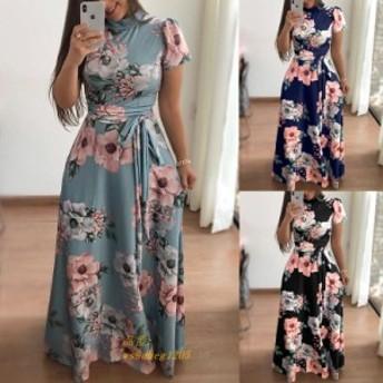 夏ロングドレス女性花柄ドレス 女性パーティードレスローブフェムセクシーは Longue Vestidos デ middot フィエスタ
