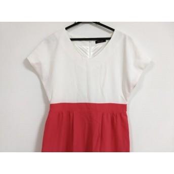 【中古】 チェリーアン CHERRY ANN ワンピース サイズM レディース 白 ピンク マルチ 刺繍
