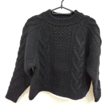 【中古】 バトナー BATONER 長袖セーター サイズ1 S レディース 黒