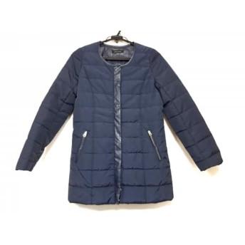 【中古】 スコットクラブ SCOTCLUB コート サイズ9 M レディース ネイビー ジップアップ/冬物