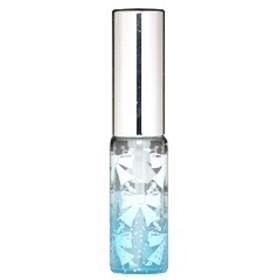 キラキラ ラメ リボン ガラスアトマイザー シルバーピカアルミキャップ プラスチックポンプ 68207 (ラメリボン ブルー) 4ml