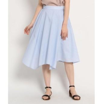 AG by aquagirl / エージー バイ アクアガール 【洗える】コンビストライプイレギュラーヘムスカート