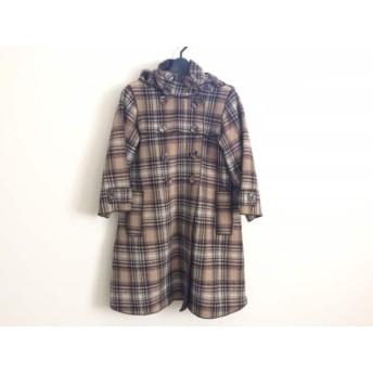 【中古】 アドルフォドミンゲス コート サイズ36 S レディース 美品 ベージュ ダークブラウン マルチ