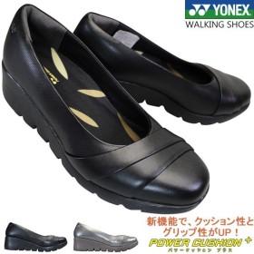 ヨネックス YONEX パワークッション SHW-LC106 各色 レディース カジュアルパンプス ウォーキングパンプス シューズ 靴 ウェッジソール 3.5E 幅広 ワイド