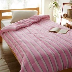 タオルケット ケット 綿のさらぽこキルトケット カラー 「ピンク」